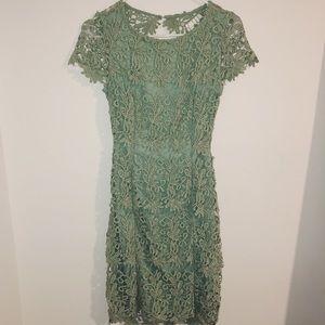 Lulus Green Lace dress